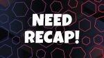 NEED RECAP – 3/9 MAGGIO 2021